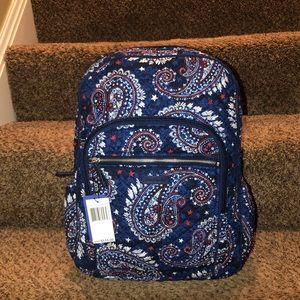 Vera Bradley Campus Backpack In Fireworks Paisley